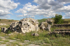 Adamclisi fortress ruins Stock Photography