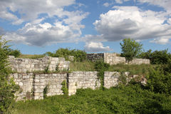 Adamclisi fortress ruins Royalty Free Stock Images