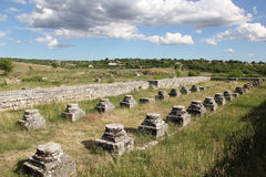 Adamclisi fortress ruins Royalty Free Stock Photography