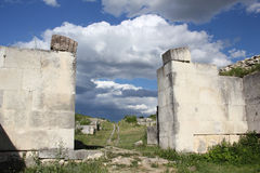 Adamclisi fortress ruins Stock Images