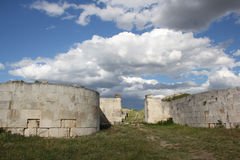 Adamclisi fortress ruins Royalty Free Stock Photo