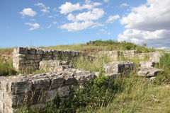 Adamclisi fortress ruins Royalty Free Stock Image
