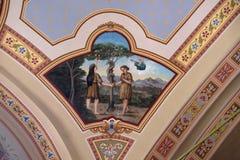 Adame, Eve und Schlange im Himmel Lizenzfreie Stockfotos