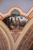 Adame, Eve und Schlange im Himmel Stockbild