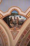 Adame, Eve und Schlange im Himmel Stockfoto