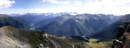 Adamello tops. Panorama of adamello alps tops Stock Photos