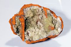 Adamit-Mineral Stockfotografie