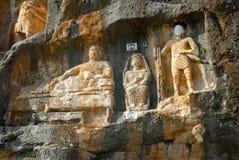 Adamkayalar -岩石被雕刻的图 火鸡 免版税库存照片
