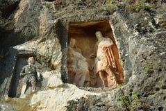 Adamkayalar - figure scolpite roccia La Turchia Fotografia Stock Libera da Diritti