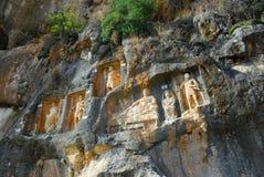 Adamkayalar - rock carved figures. Turkey Royalty Free Stock Photos