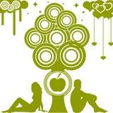 Adamo e Eva. eps10 Immagini Stock Libere da Diritti