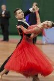 Adamovskiy Vladislav and Valashimas Stefaniya perform Youth-2 Standard Program Royalty Free Stock Photos