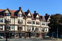 Adams byggnad, Quincy, Massachusetts Fotografering för Bildbyråer
