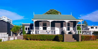 The Adams Cottage in Adams Avenue. Tauranga, New Zealand. TAURANGA, NEW ZEALAND - 27 FEBRUARY 2015: The Adams Cottage in Adams Avenue is the oldest building in Royalty Free Stock Images