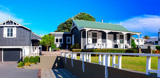 The Adams Cottage in Adams Avenue. Tauranga, New Zealand. TAURANGA, NEW ZEALAND - 27 FEBRUARY 2015: The Adams Cottage in Adams Avenue is the oldest building in Stock Photo