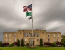 Adams County domstolsbyggnad i Ritzville Washington Royaltyfria Foton