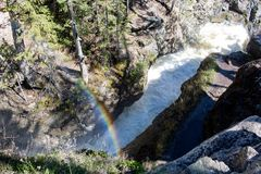 Adams Falls in Grand Lake, Colorado stock image