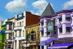 Adams Morgan neighborhood in Washington DC. Royalty Free Stock Images