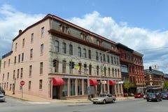 Adams--Pickeringblock in im Stadtzentrum gelegenem Bangor, Maine Stockfotos