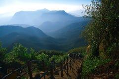 Adams Piek, de bergen van Sri Lanka Stock Foto