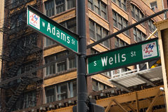 Adams und Wells Lizenzfreies Stockfoto