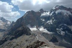 Adamtash peak. In Tajikistan. Kulikalon wall Stock Photography
