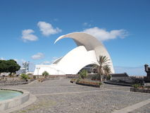 Adan Martin Auditorium of Tenerife. Seafront arts complex & auditorium housed in a landmark building with futuristic, curving design Stock Photography