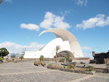 Adan Martin Auditorium of Tenerife. Seafront arts complex and auditorium housed in a landmark building with futuristic, curving design Stock Photos