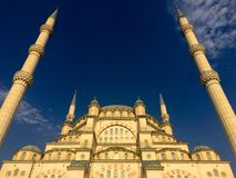 Adana Central Mosque. View with beautiful blue sky stock photos