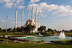 Adana Grand Mosque. Exterior of Sabanci Central Mosque in Adana, Turkey Royalty Free Stock Photo