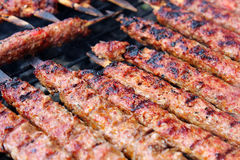 Adana Kebab. Grilled on barbecue Stock Image