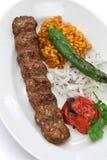 Adana-Kebab, türkisches Lebensmittel Stockbild