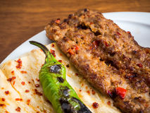Adana Kebab. On the table Stock Photography