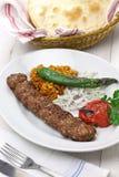 Adana kebab, turkish food Royalty Free Stock Images