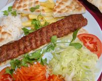 Adana kebab. Turkish traditional dish Royalty Free Stock Image