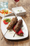 Adana kebap. On a white plate Stock Image