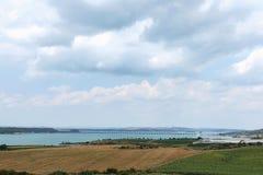 Adana tamy most i jezioro Zdjęcia Royalty Free