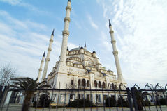 Adana Turkey - Sabancı Merkez Mosque. At sunrice Stock Image