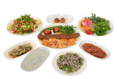 Adanakebabs en mezzes Royalty-vrije Stock Foto's