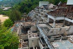 Adandoned y edificio viejo dañado Imagen de archivo libre de regalías