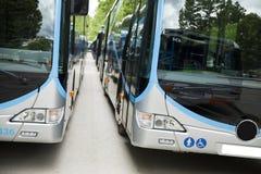 A adapté un autobus pour transporter les personnes handicapées photographie stock libre de droits