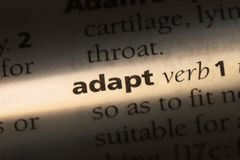 Adapt. Word in a dictionary.  concept Stock Photography