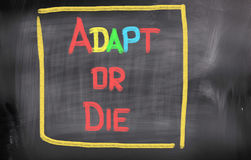 Adapt Or Die Concept. Concept Handwritten With Chalk On A Blackboard Stock Photo