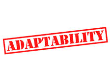 ADAPTABILITY Rubber Stamp Royalty Free Stock Images