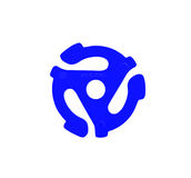 Adaptador azul del expediente de vinilo Fotos de archivo libres de regalías