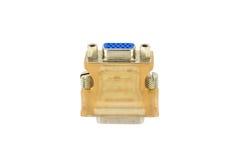Adaptador D-sub del enchufe-y-zócalo Imagen de archivo libre de regalías