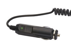 Adaptador de corriente para coche - trayectoria de recortes Foto de archivo