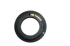 Adaptador do anel para a lente do vintage com microplaqueta-foco imagem de stock royalty free