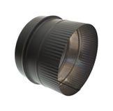 Adaptador negro del tubo de la estufa Foto de archivo libre de regalías