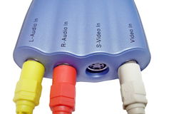 Adaptador video Fotografia de Stock